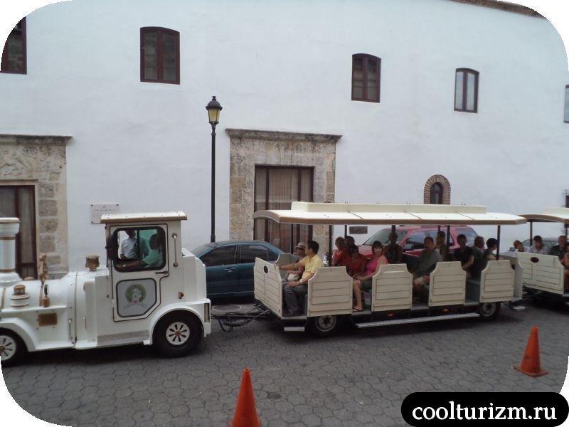 паровозик для туристов Доминикана