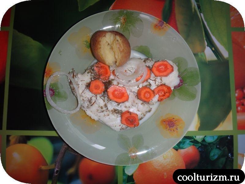 подача трески в молоке с картошкой