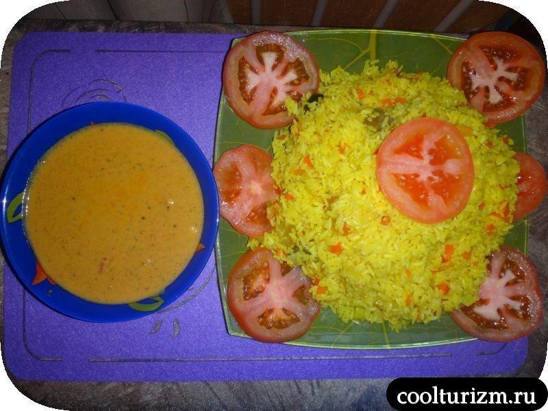 рис и соус для тандури