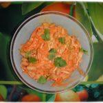 Салат с сыром, фасолью и корейской морковью.