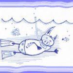 свинсент плавает в маске