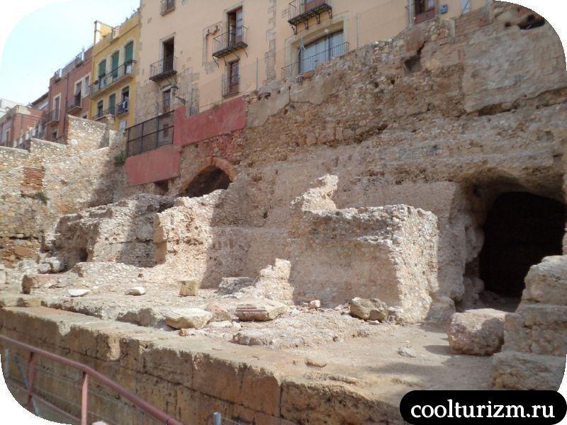 фундамент древнеримские развалины Таррагона
