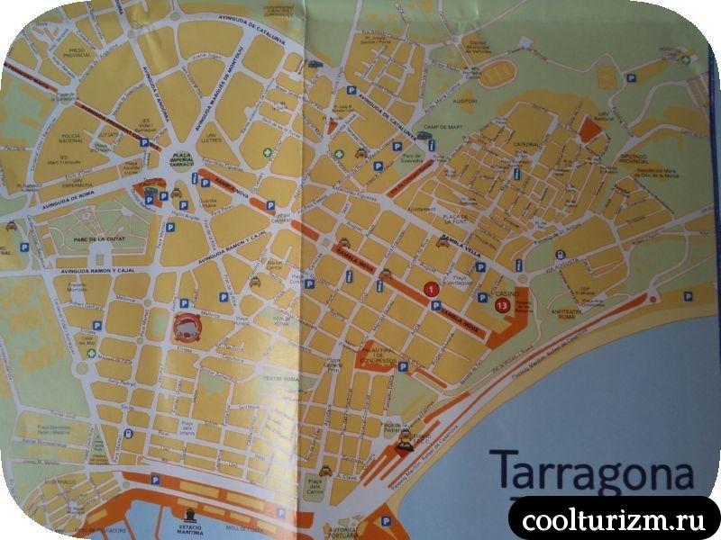 карта Таррагона Испания