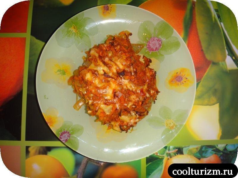 вкусная треска с морковкой