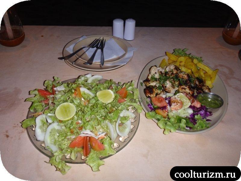 Южное ГОА. Цены на еду.Ужин в Гоа. Агонда