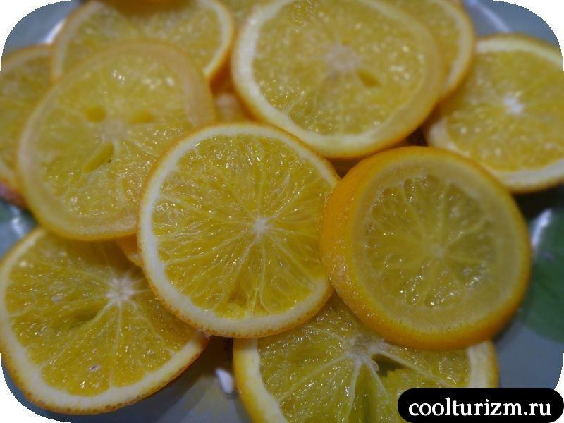 режем апельсины кружками