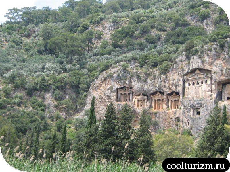 ликийские гробницы Турция
