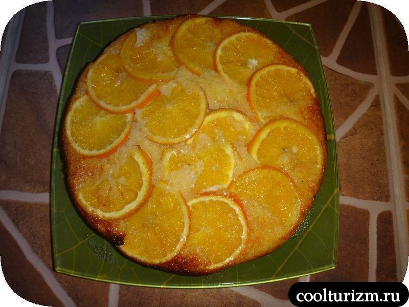 апельсиновый пирог готов