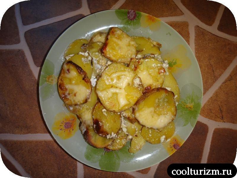 """Картофель """"Дофин. Рецепт запеченного картофеля с сыром."""
