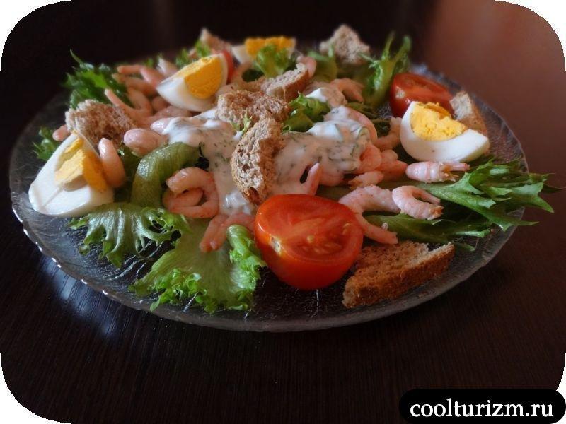 Как приготовить простой салат с креветками