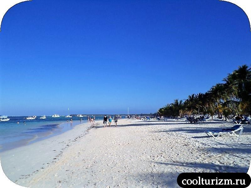 прогулка по пляжу Пунта Кана