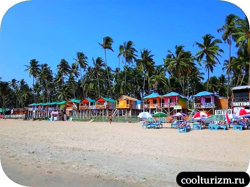 Палолем.домики на пляже