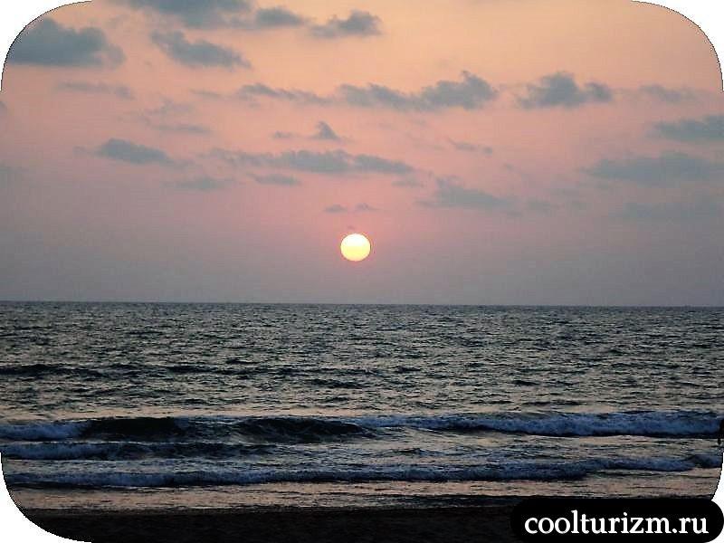 закат в Агонде Индия