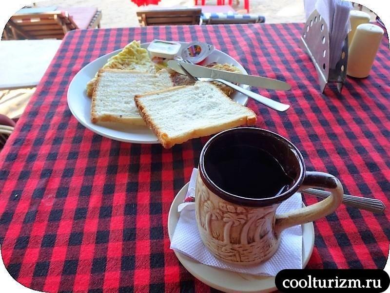 завтрак в Палолеме.