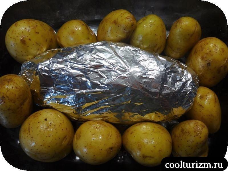 свинина в фольге с картошкой