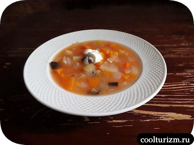 овощной суп с манкой