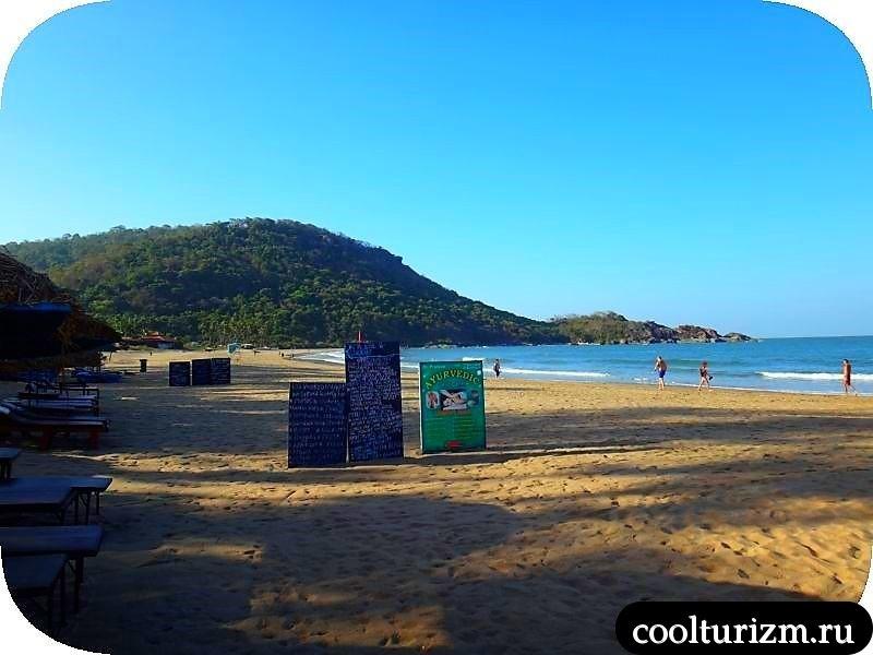 агонда бич гоа индия пляж