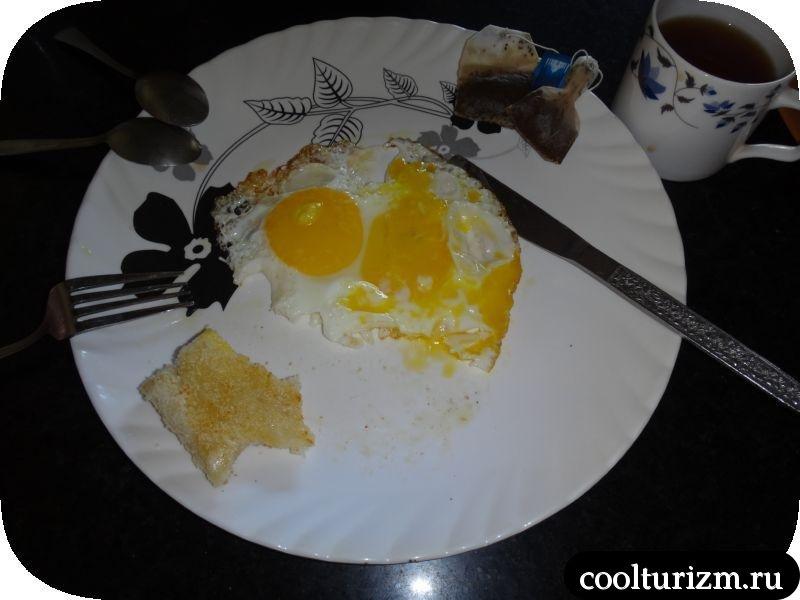 яичница агонда в забегаловке