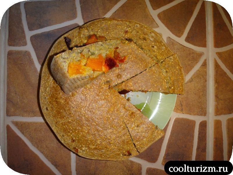 кукурузный пирог подача