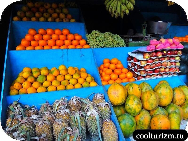 еда в Индии.Гоа.фрукты.