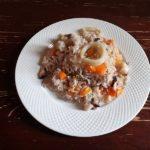 Рис с морепродуктами и тыквой