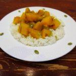 Вегетарианское блюдо из тыквы с рисом