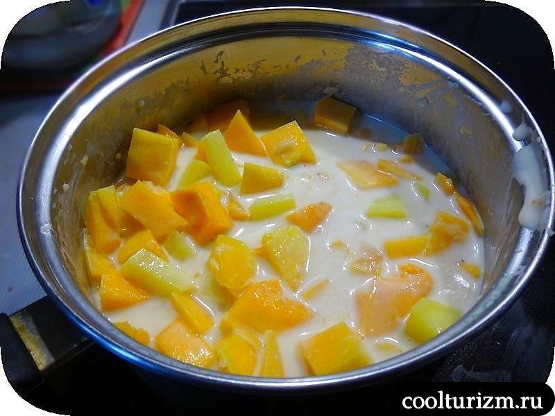 суп-пюре из тыквы и картошки