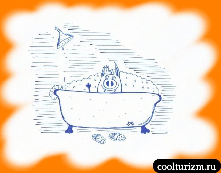 свиная радость в ванне