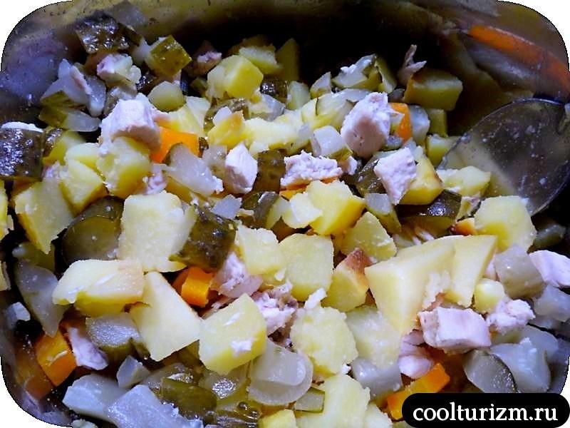 салат из курицы рецепт