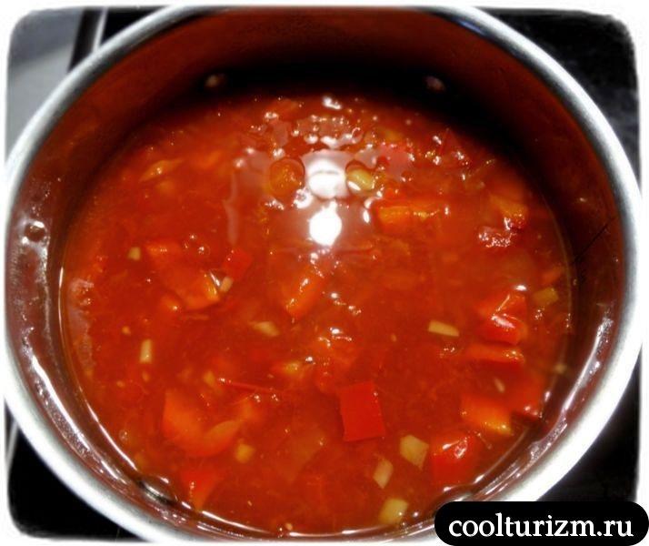 томатный суп с огурцами рецепт