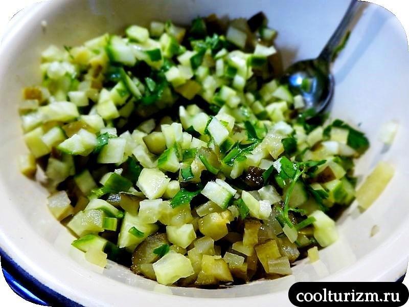 теплый салат с картофелем как приготовить