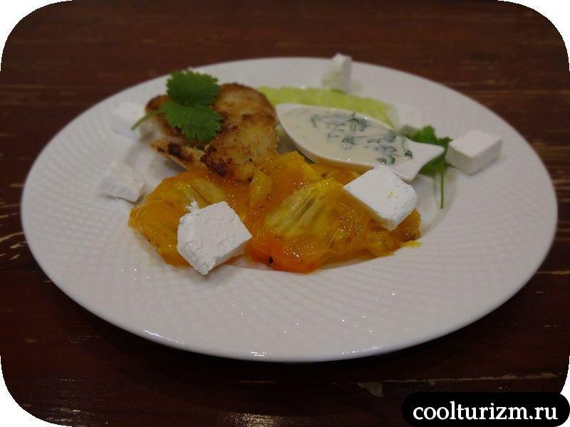 салат из трески и хурмы