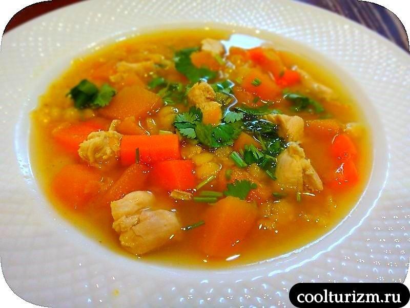 гороховый суп с тыковой