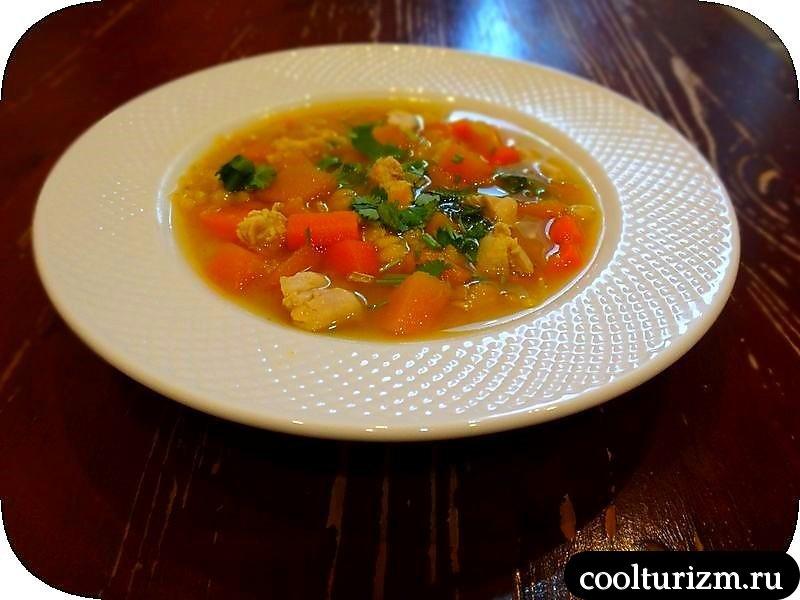 гороховый суп с крылышками