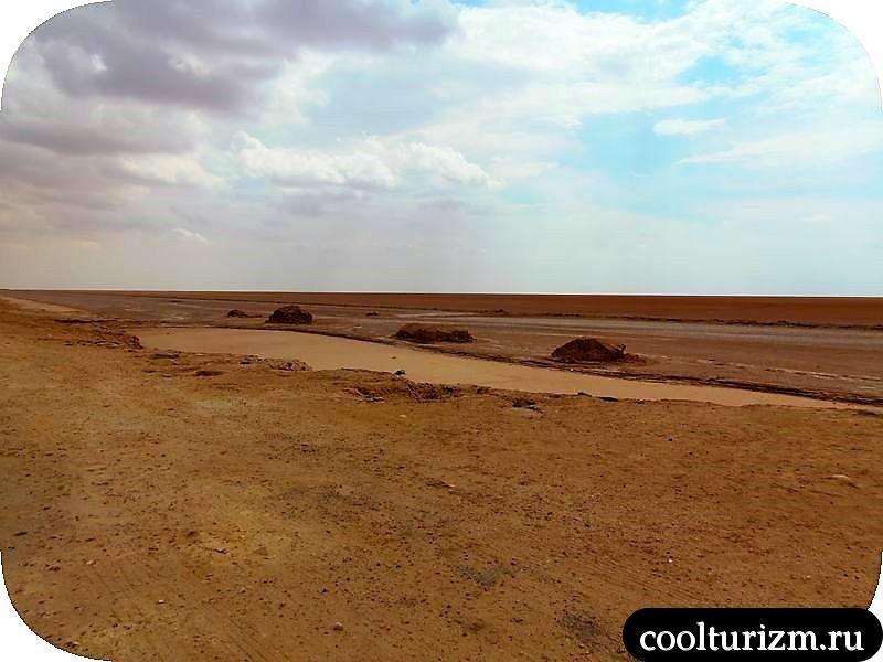 Озеро Шотт эль Джерид мертвое озеро
