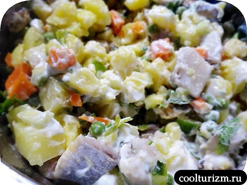 салат из селедки с картошкой не шуба