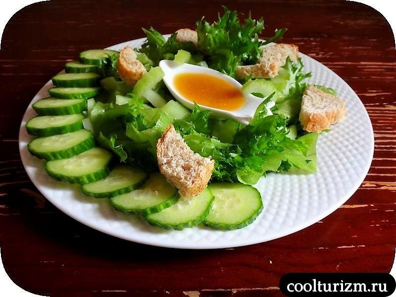 вкусный зеленый салат рецепт
