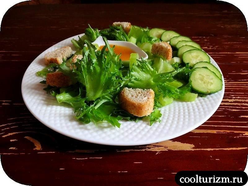 вкусный зеленый салат легко и просто