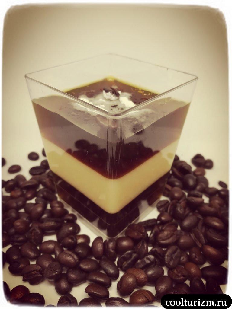 молочно кофейное желе вкусно