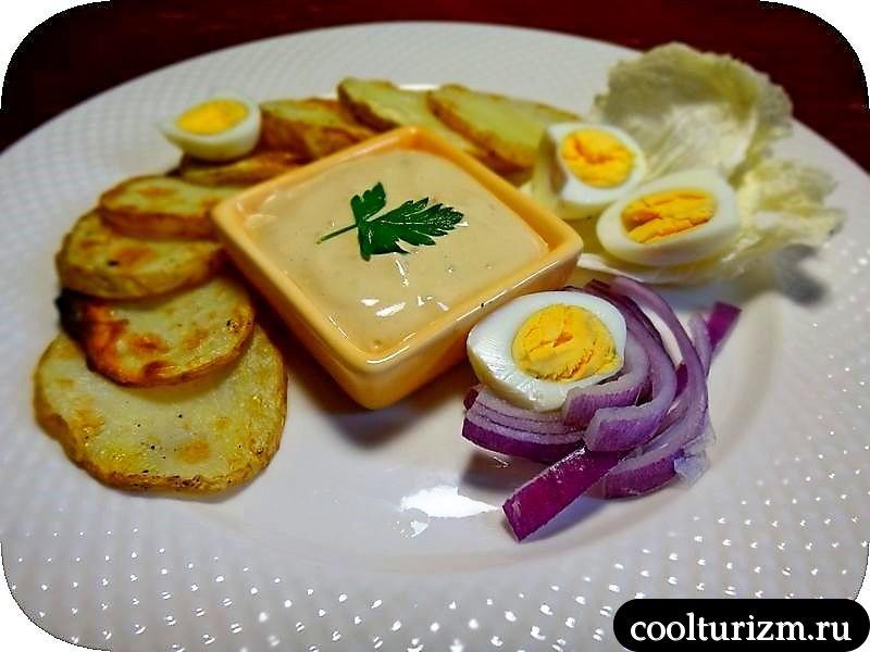 салат с картофельными чипсами