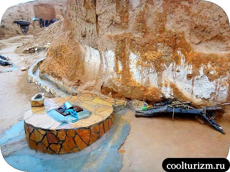 троглодиты в пещерах Туниса