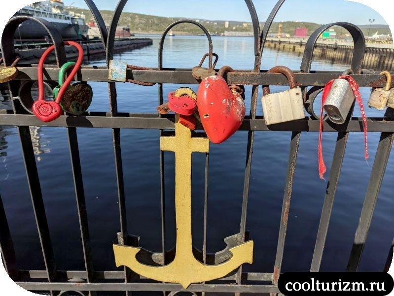 морвокзал мурманск замки на заборе