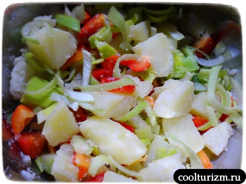 салат с селедкой и картошкой
