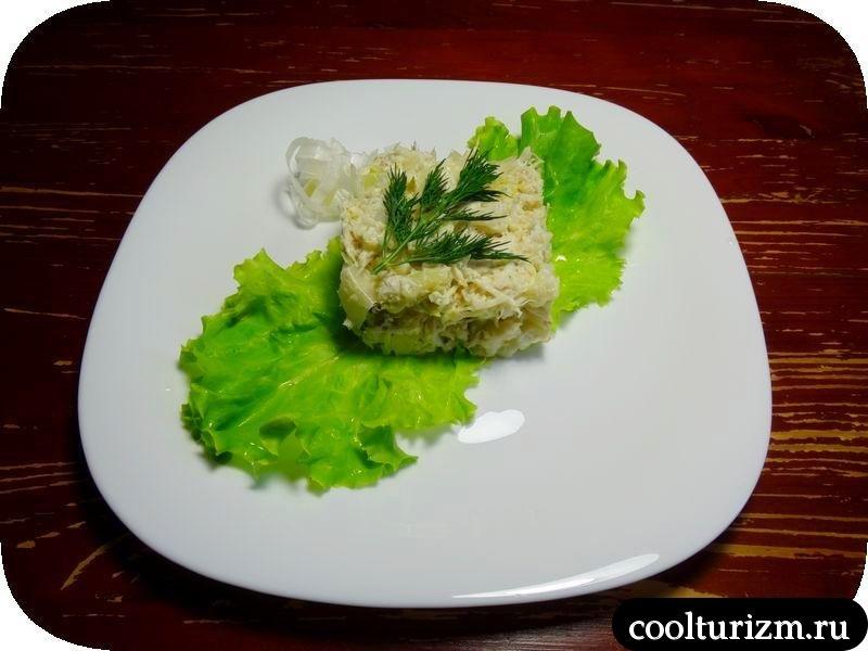 салат с треской и капустой как приготовить