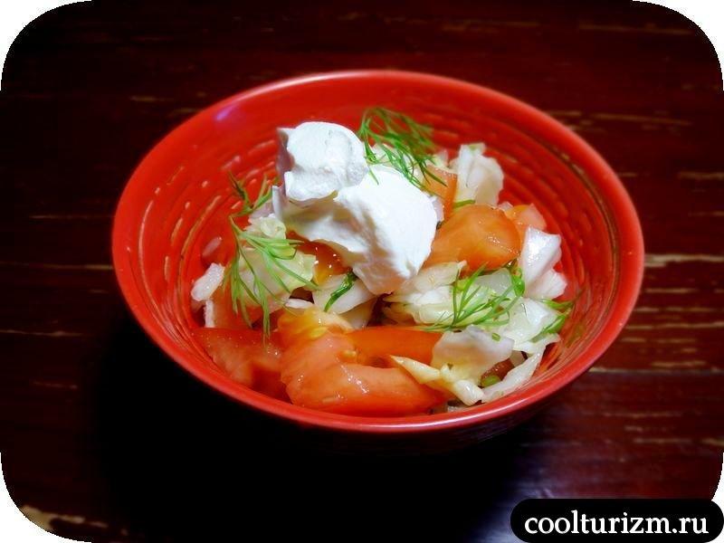 лёгкий салат из капусты