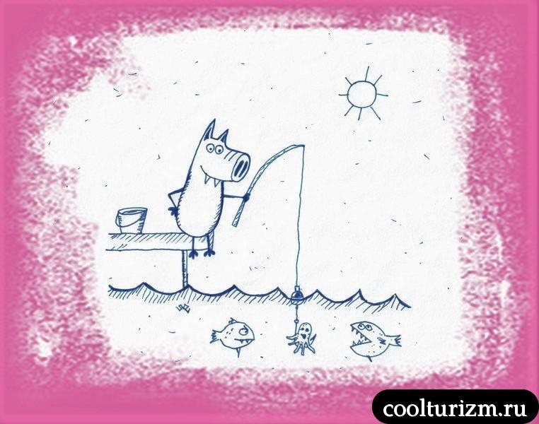 Свинни на рыбалке