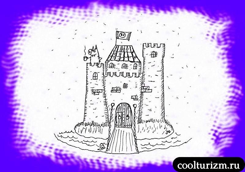 шотландский фамильный замок Свинни