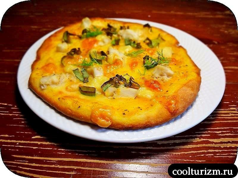пицца с треской