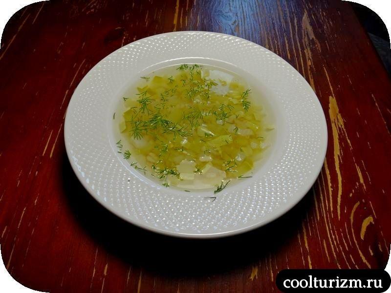 кабачковый суп с перловкой