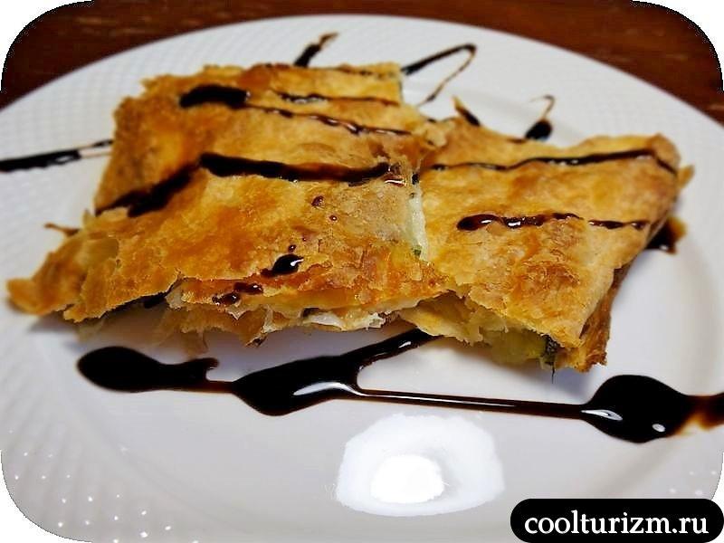 слоеный пирог из кабачков